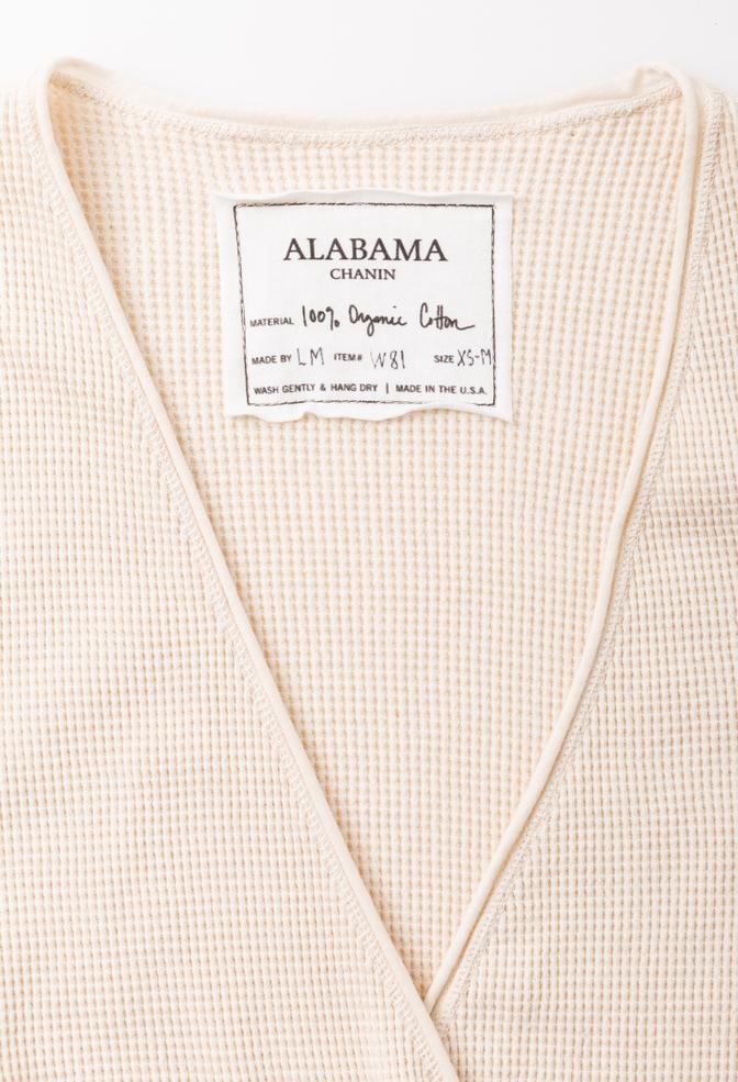 Alabama chanin cozy waffle cardigan