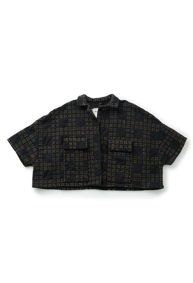 The school of making tartan cropped car jacket diy kit 4