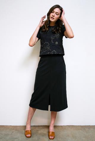 Alabama chanin mid length skirt 1