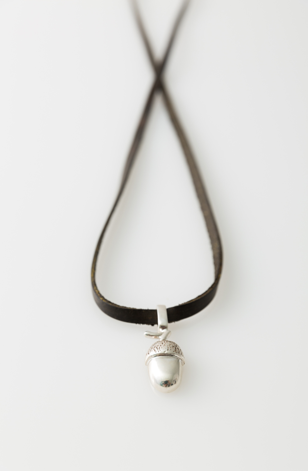 Alabama chanin acorn pendant necklace