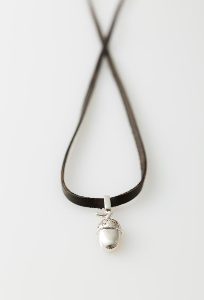 Alabama chanin acorn pendant necklace