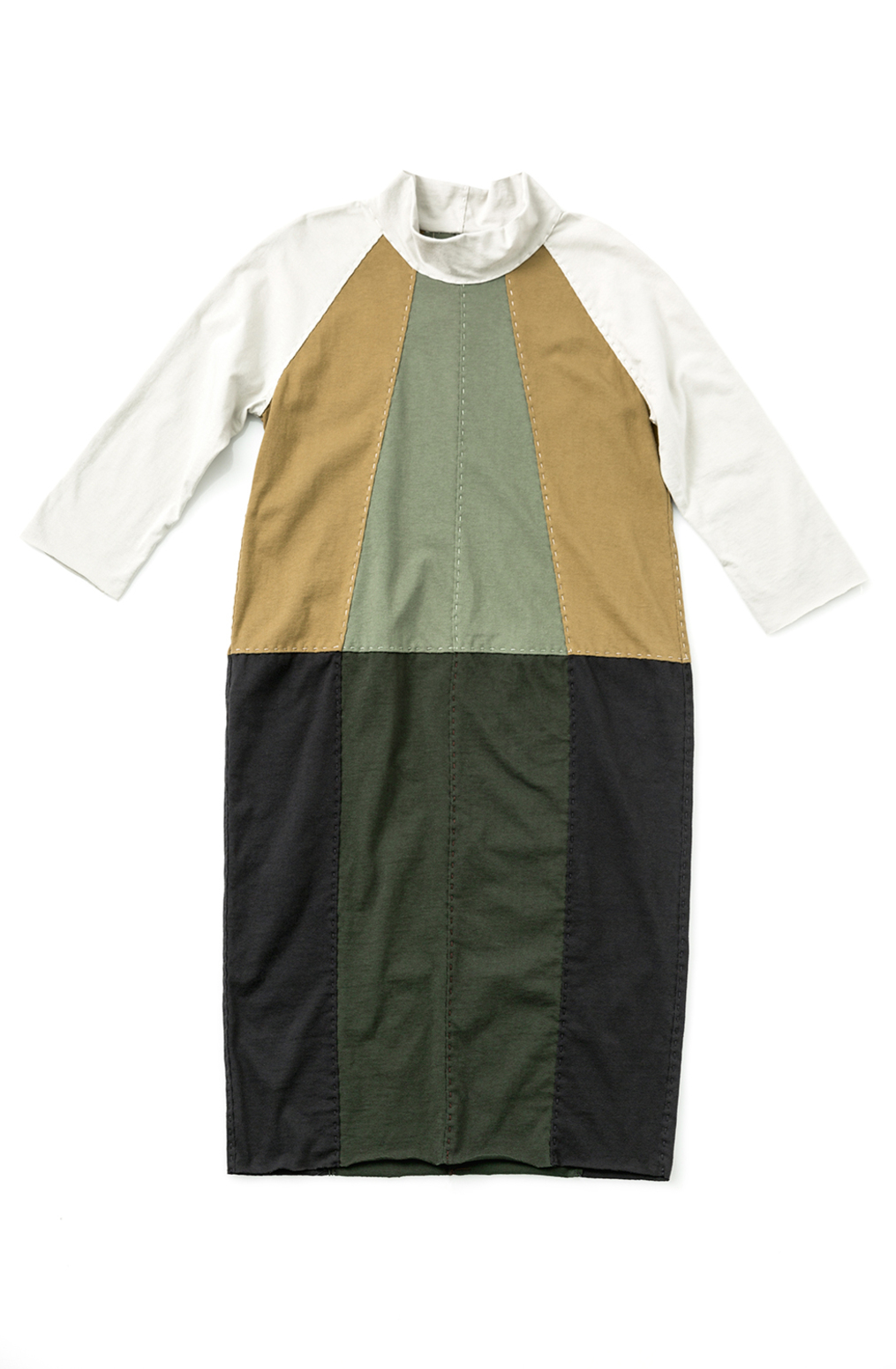 Fractal dress   colorblock   parchment ochre verdant forest black   28496   build a wardrobe 2019   abraham rowe 2