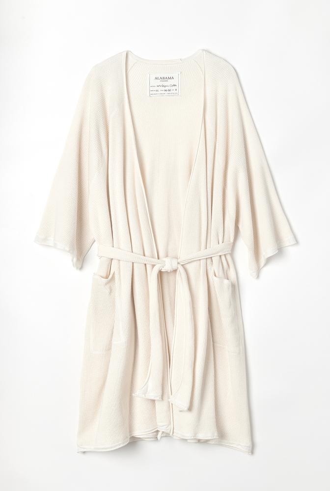 Alabama chanin organic cotton waffle bath robe5