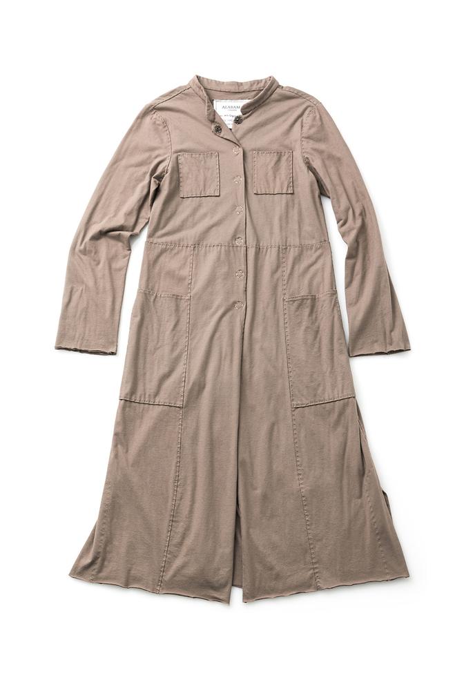 Alabama chanin cotton mid length coat 1