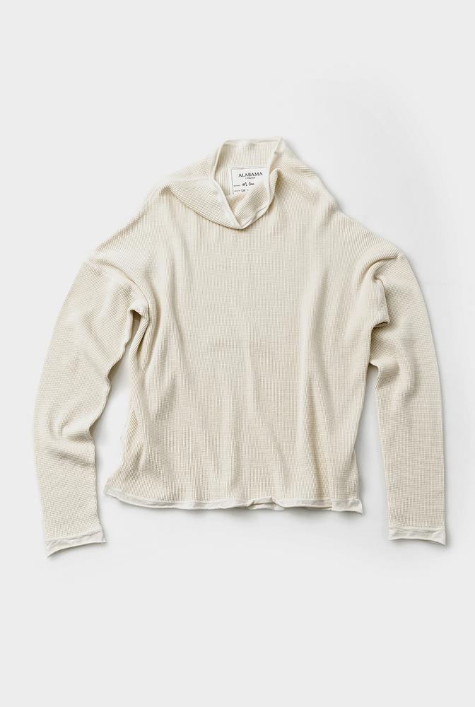 Alabama chanin waffle knit sweatshirt 1