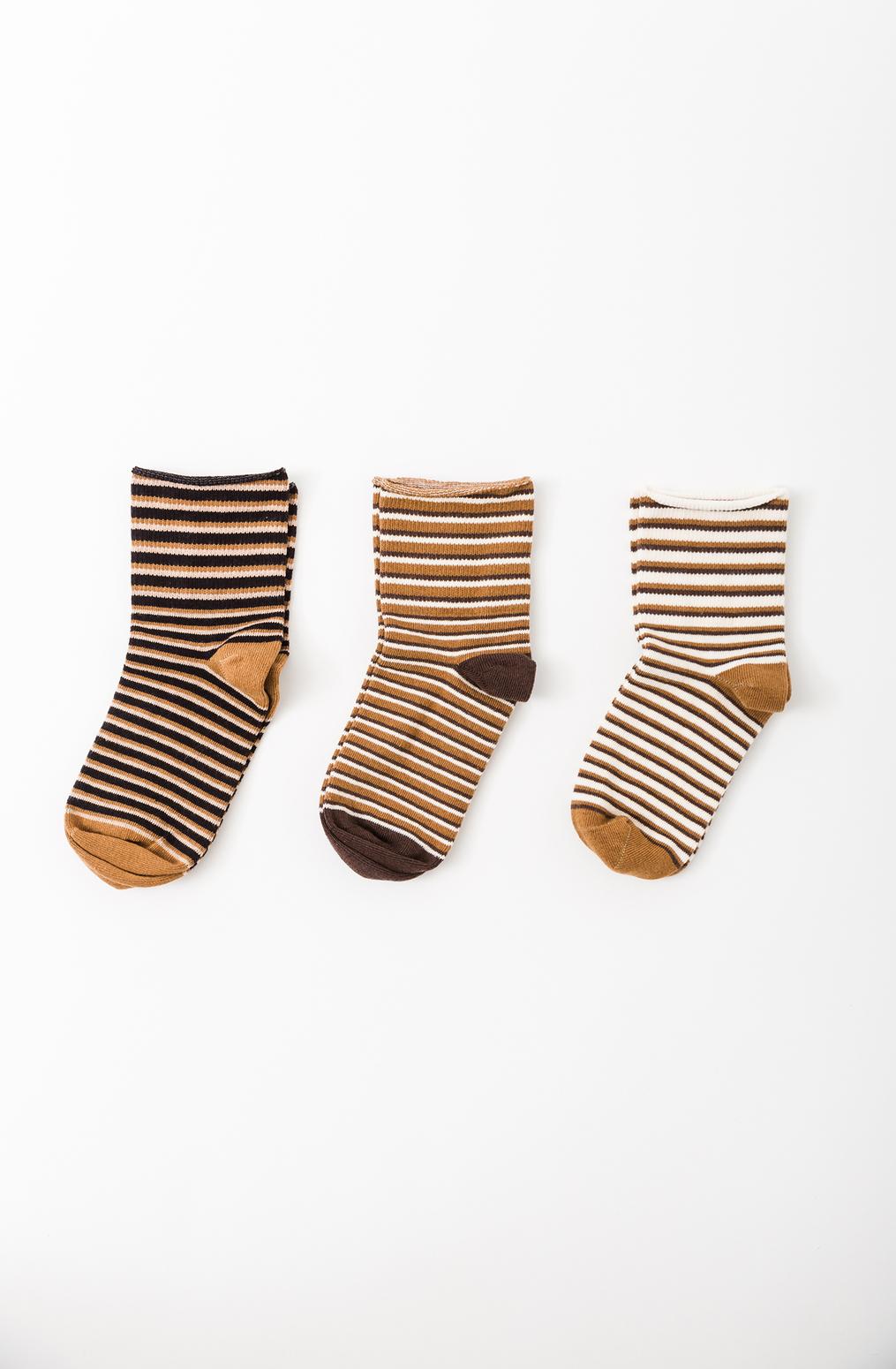 Alabama chanin organic cotton shortie stripe socks 4