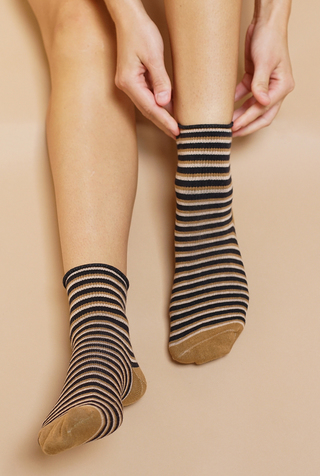 Stripe Shortie Socks