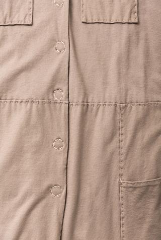 Alabama chanin cotton mid length coat 4