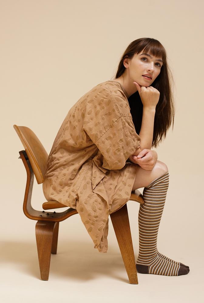 Alabama chanin organic cotton tall stripe socks 5