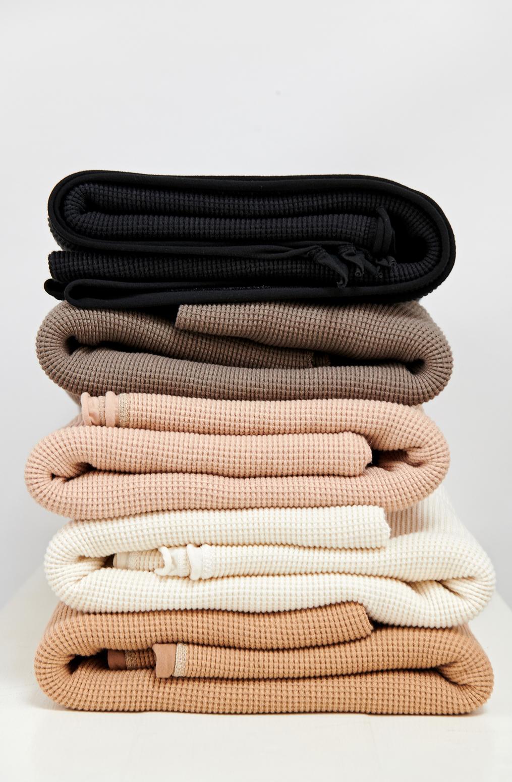 Alabama chanin waffle knit blanket 1