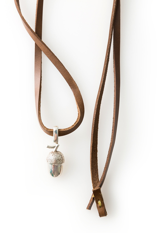 Alabama chanin handcrafted leather necklace 4
