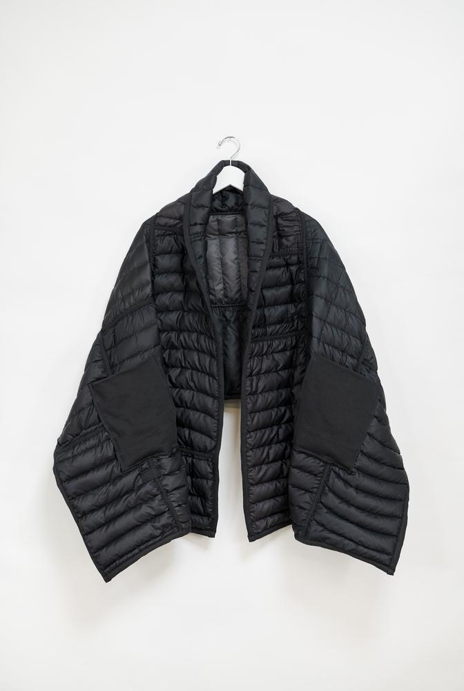 Reclaimed down wrap scarf   basic   black   october 2019   robert rausch4490