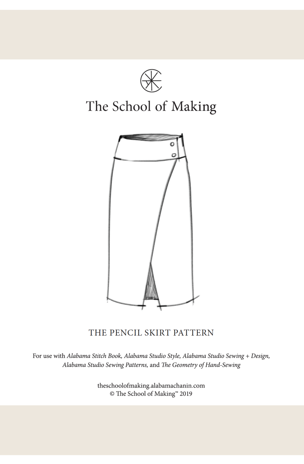The school of making pencil skirt pattern