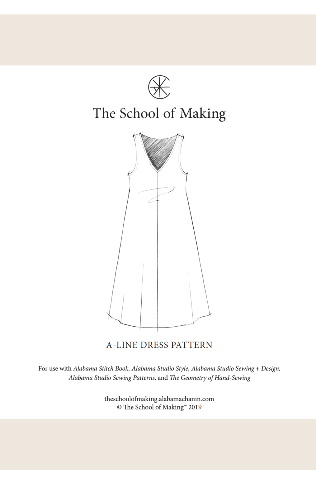 The school of making a line dress pattern