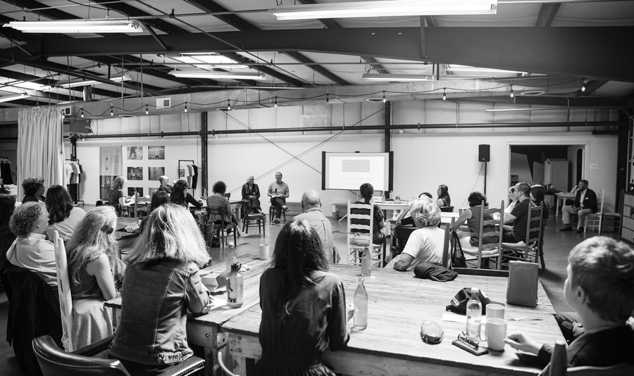 Event   project threadways symposium   introduction   natalie chanin   john t edge   the factory   april 2019    rinne allen 1