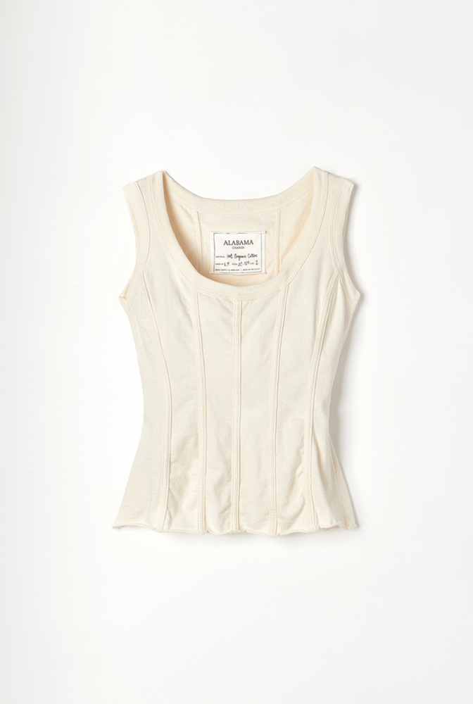 Alabama chanin organic cotton corset top 1