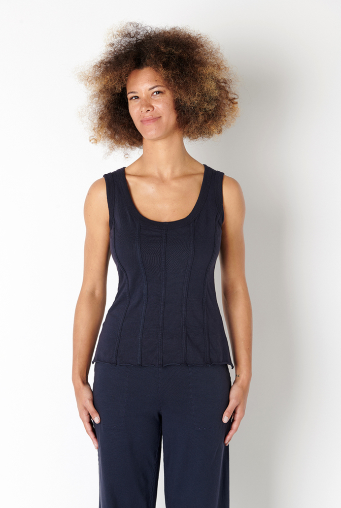 Alabama chanin organic cotton corset top 2