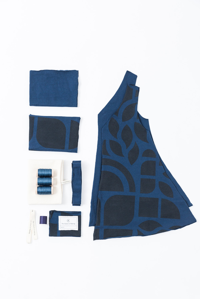 A line dress pattern   a line top   abstract   peacock peacock   a 692   kit contents   january 2020   abraham rowe 1