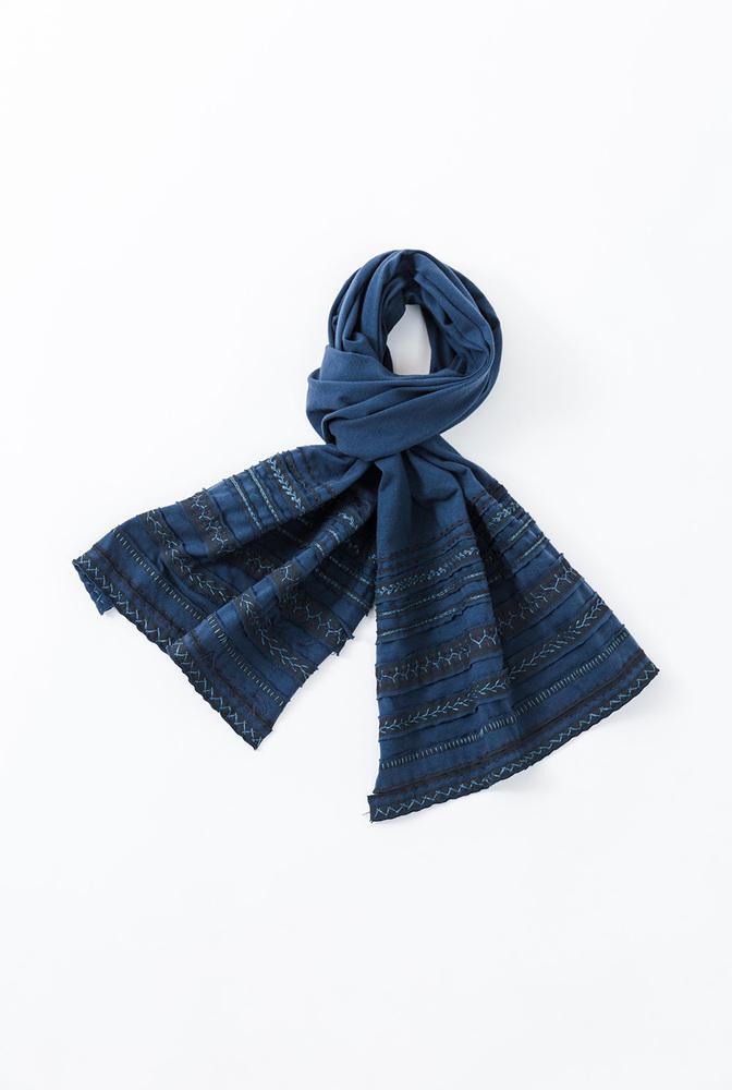 Scarf pattern   2 yard 18 scarf   tsom variegated stripe   peacock peacock   a 875   29587   january 2020   abraham rowe 7