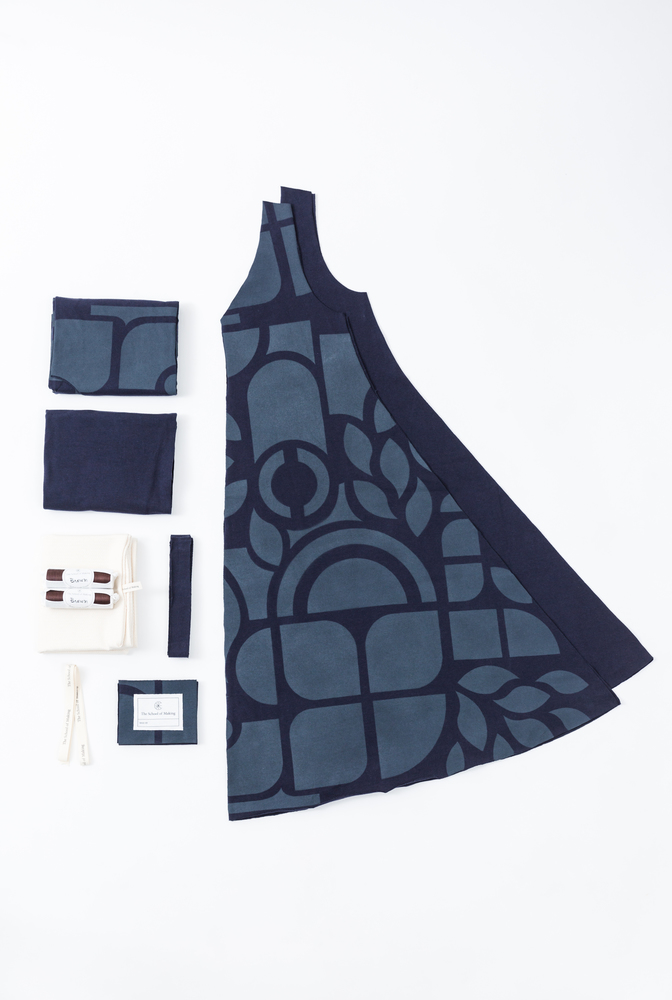 A line dress pattern   a line dress   abstract   navy navy   a 682   kit contents   january 2020   abraham rowe 2