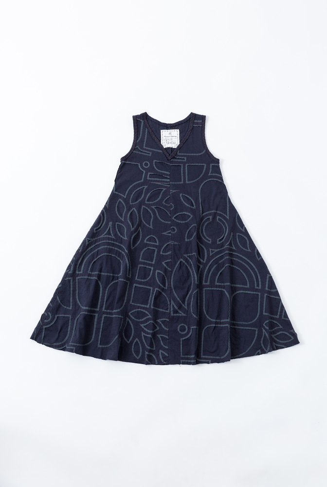 A line dress pattern   a line dress   abstract   navy navy   a 682   29609   january 2020   abraham rowe 1