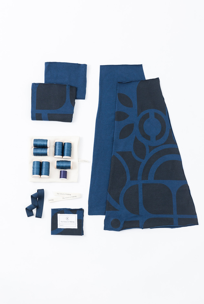 Swing skirt pattern   swing skirt   abstract   peacock peacock   a 844   kit contents   january 2020   abraham rowe 1