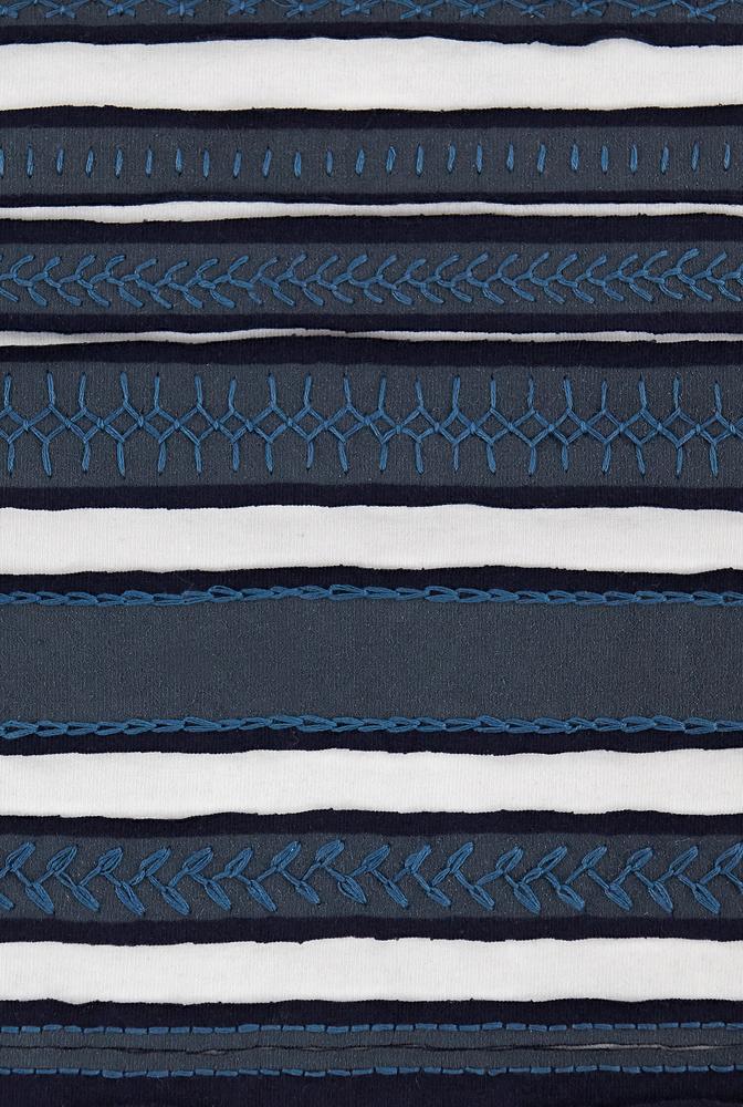 Fabric swatch   variegated stripe   assorted   navy white   29407   december 2019   robert rausch   2
