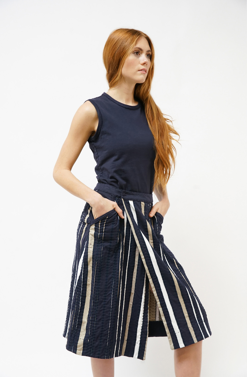 Alabama chanin emily stripe skirt2
