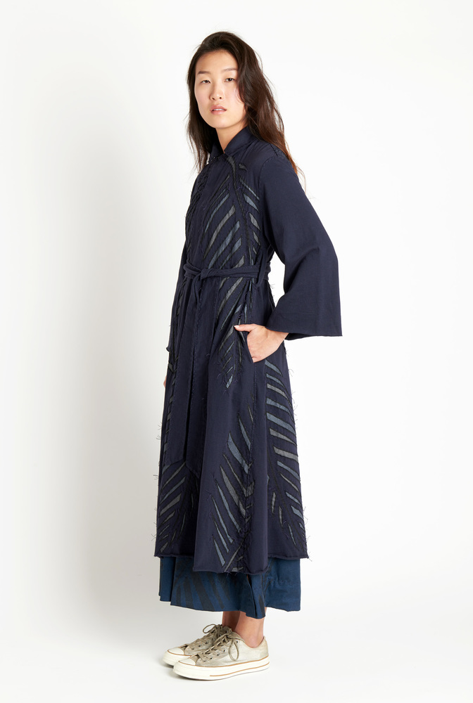 Alabama chanin palm polo coat2