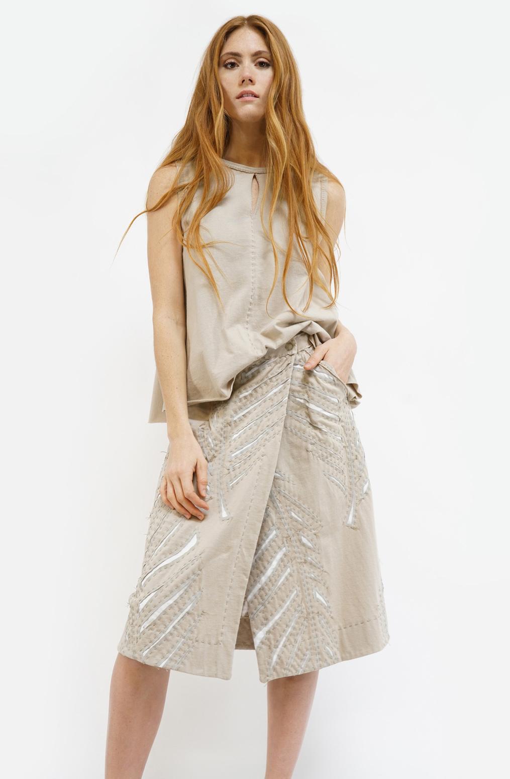 Alabama chanin wrap palm skirt3