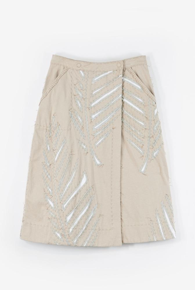 Alabama chanin wrap palm skirt2