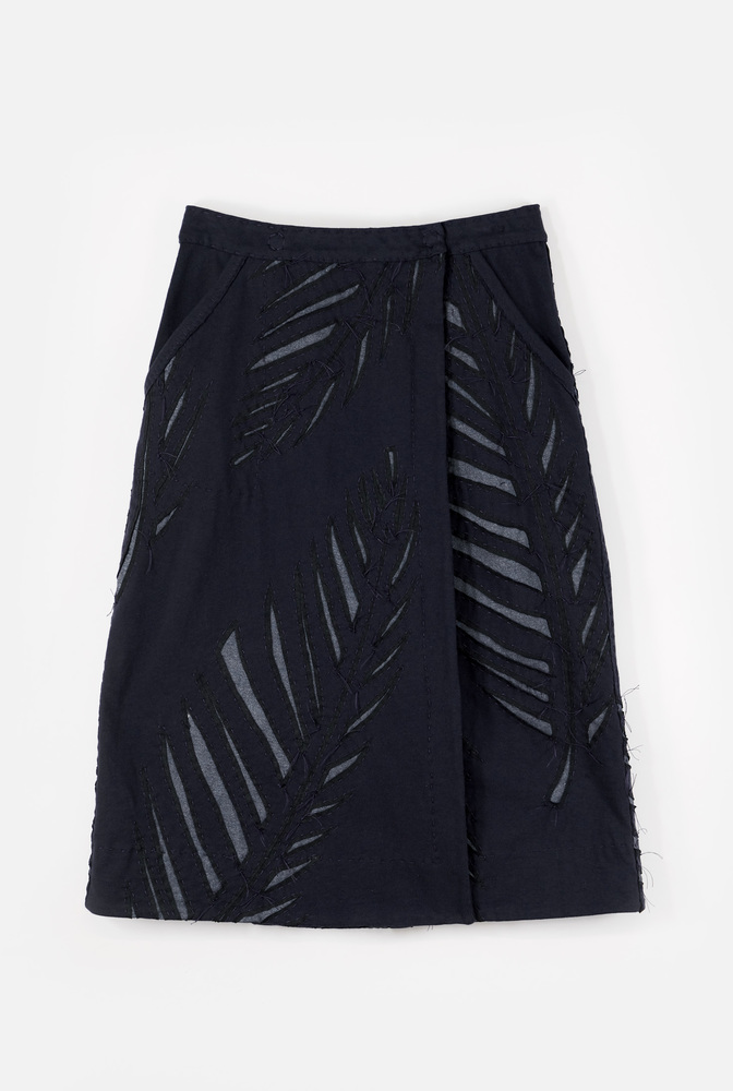 Alabama chanin wrap palm skirt1