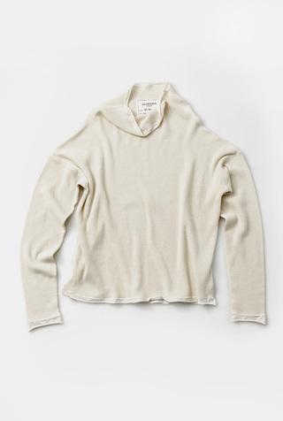 Long Sleeve Waffle Sweatshirt
