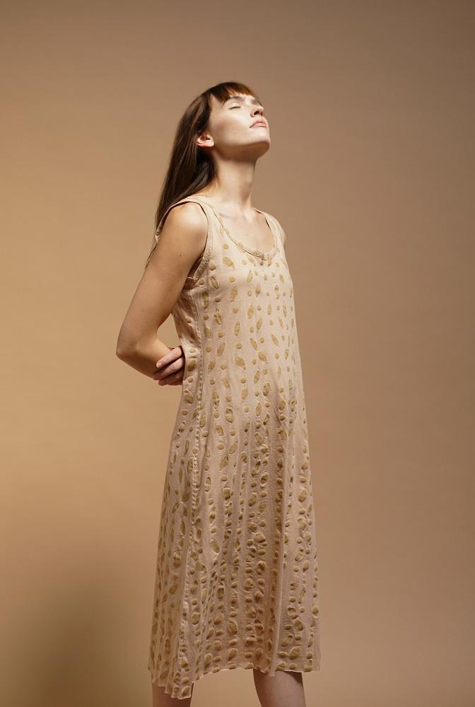 Alabama chanin hand sewn camisole dress 4