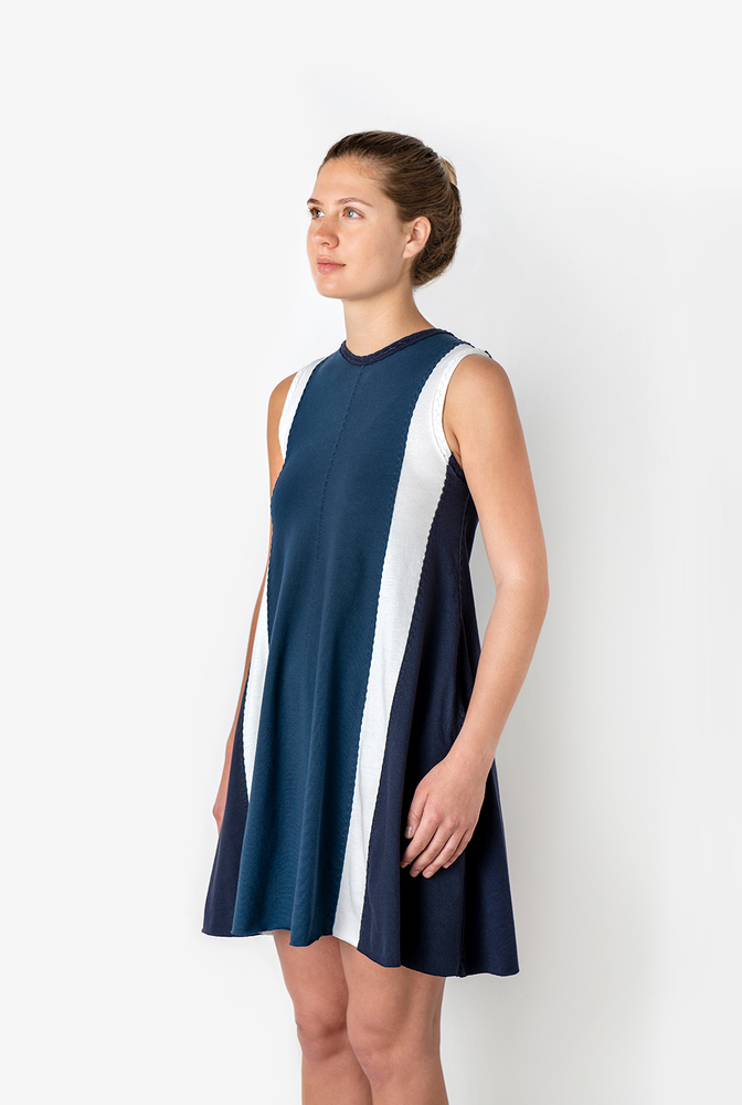 The school of making color blocked a line dress bundle 4
