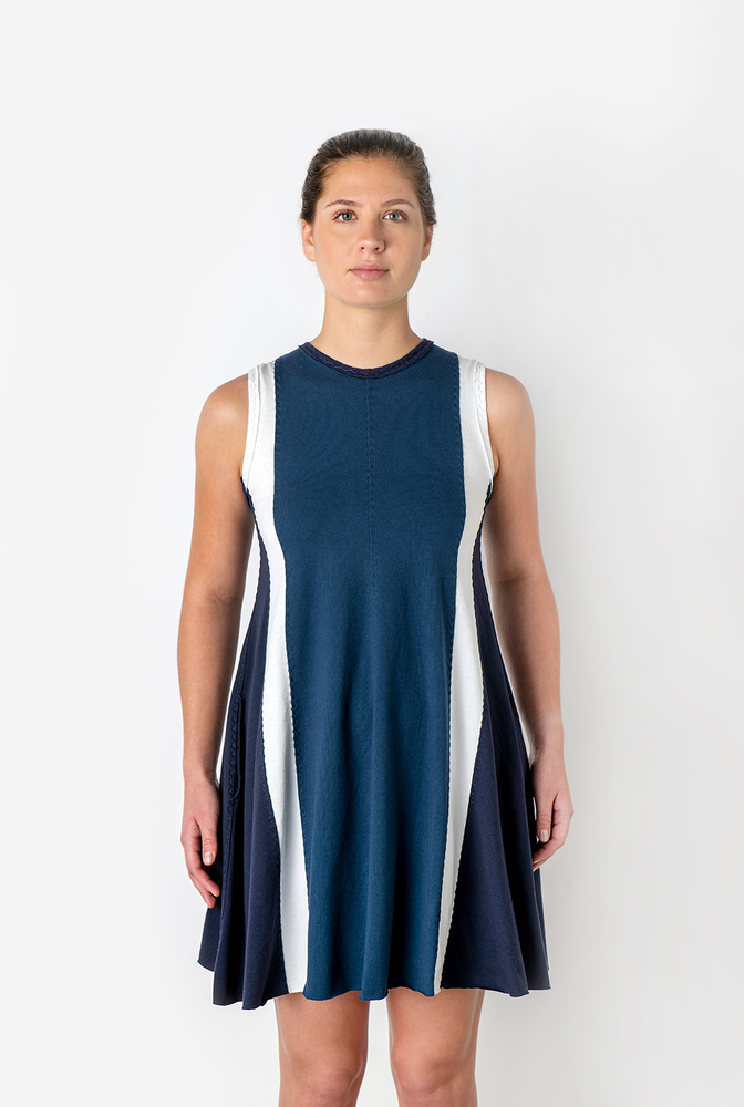 The school of making color blocked a line dress bundle 5