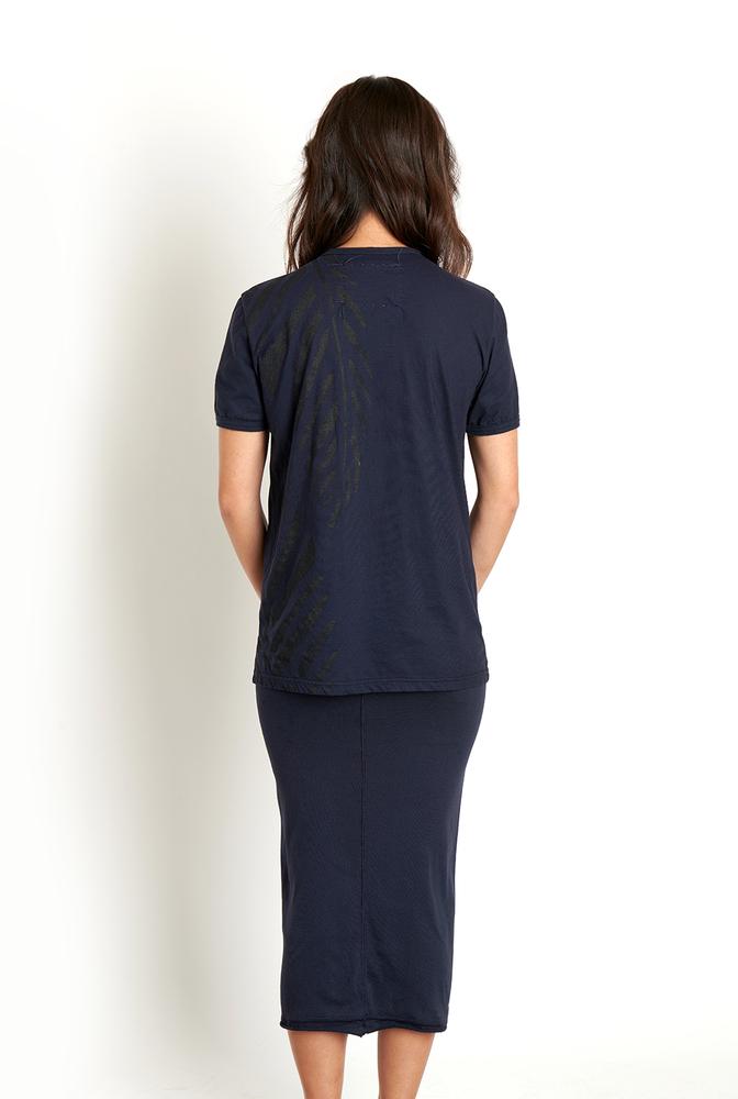Alabama chanin lightweight organic cotton tee palm embroidery 3