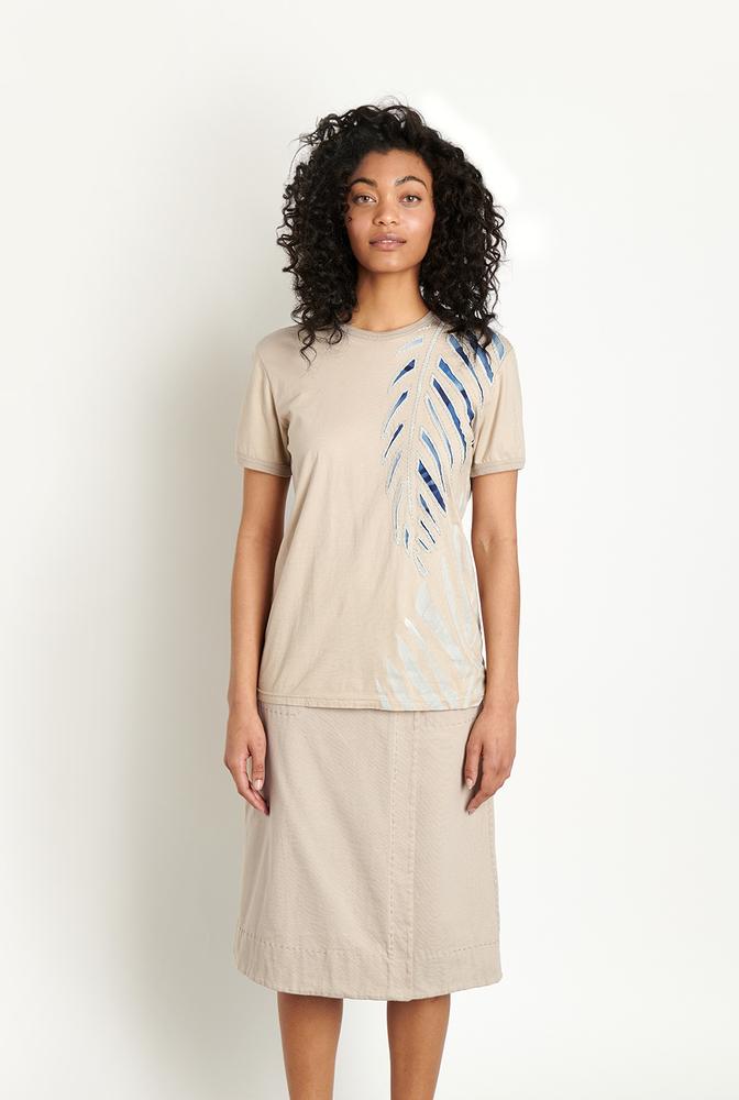 Alabama chanin lightweight organic cotton tee palm embroidery 5