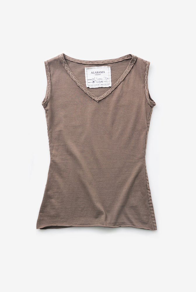 Alabama chanin womens sleeveless cotton top 2
