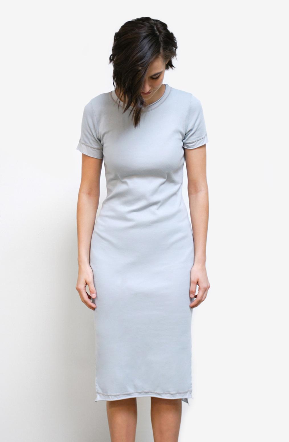Alabama chanin womens dress cotton crew neck 1
