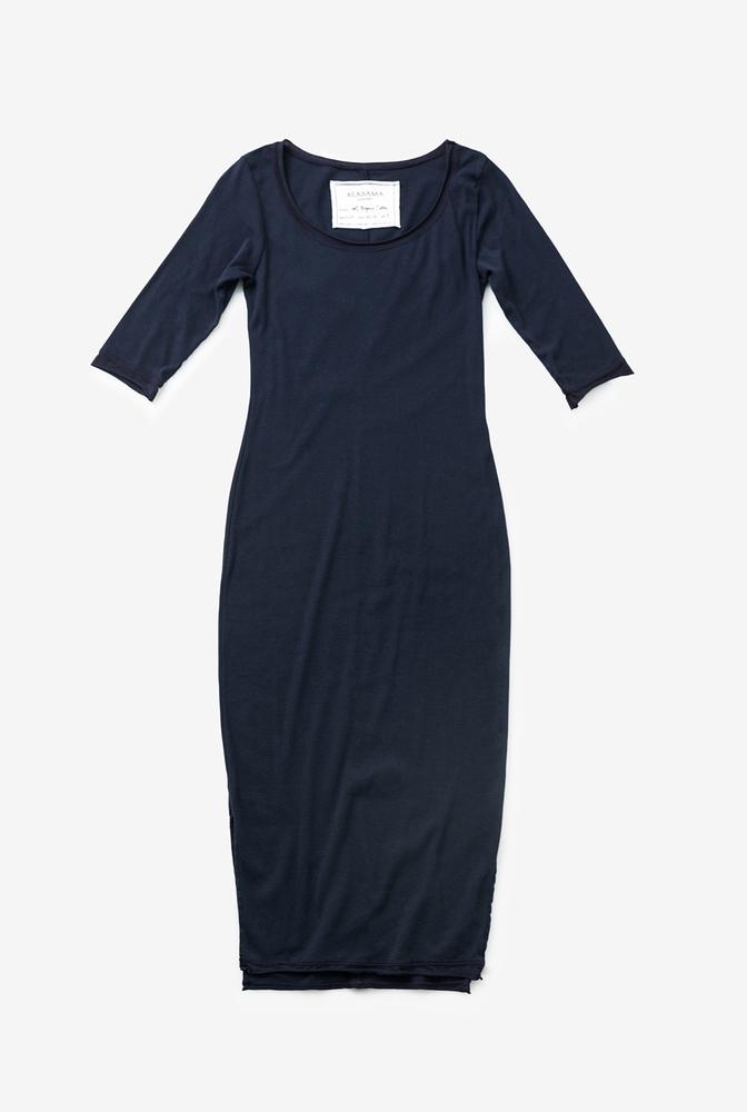 Alabama chanin womens knit dress cotton scoop neck 1