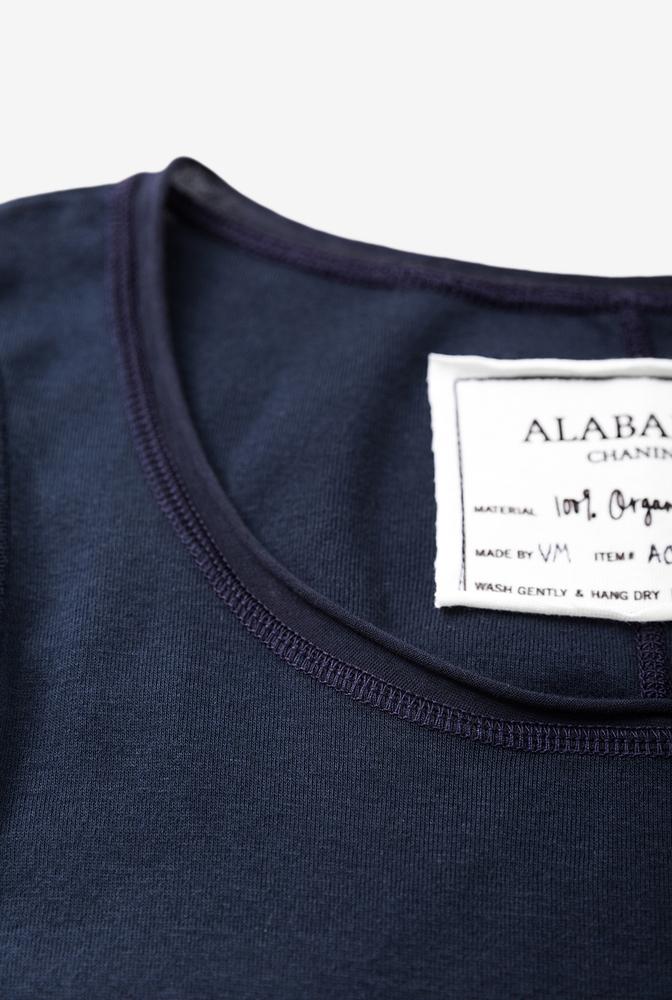 Alabama chanin womens knit dress cotton scoop neck 2