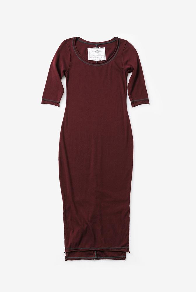Alabama chanin womens knit dress cotton scoop neck 3