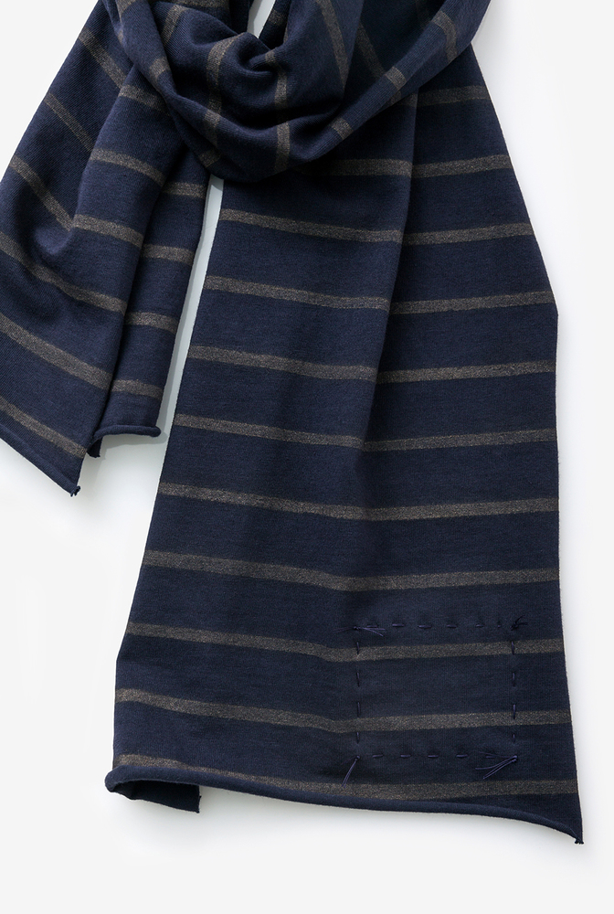 Alabama chanin cotton scarf stripe accessory 3