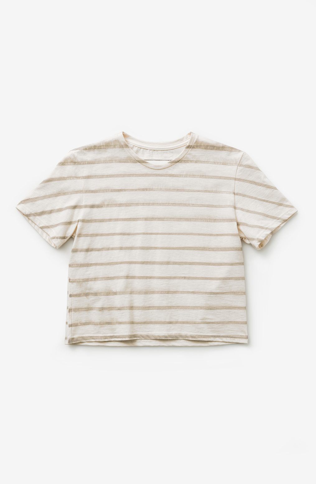 Alabama chanin cropped womens cotton tee stripes 1