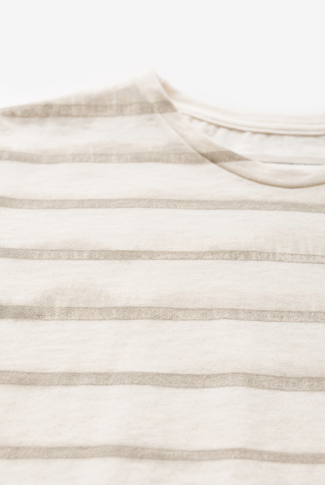 Alabama chanin cropped womens cotton tee stripes 3