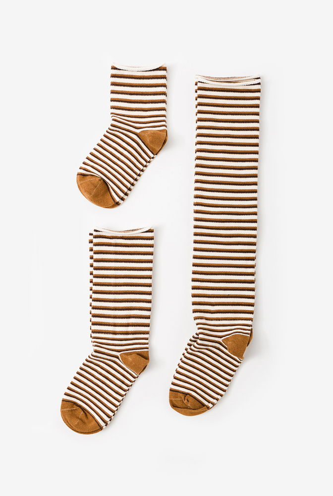Alabama chanin organic cotton socks with stripes 3