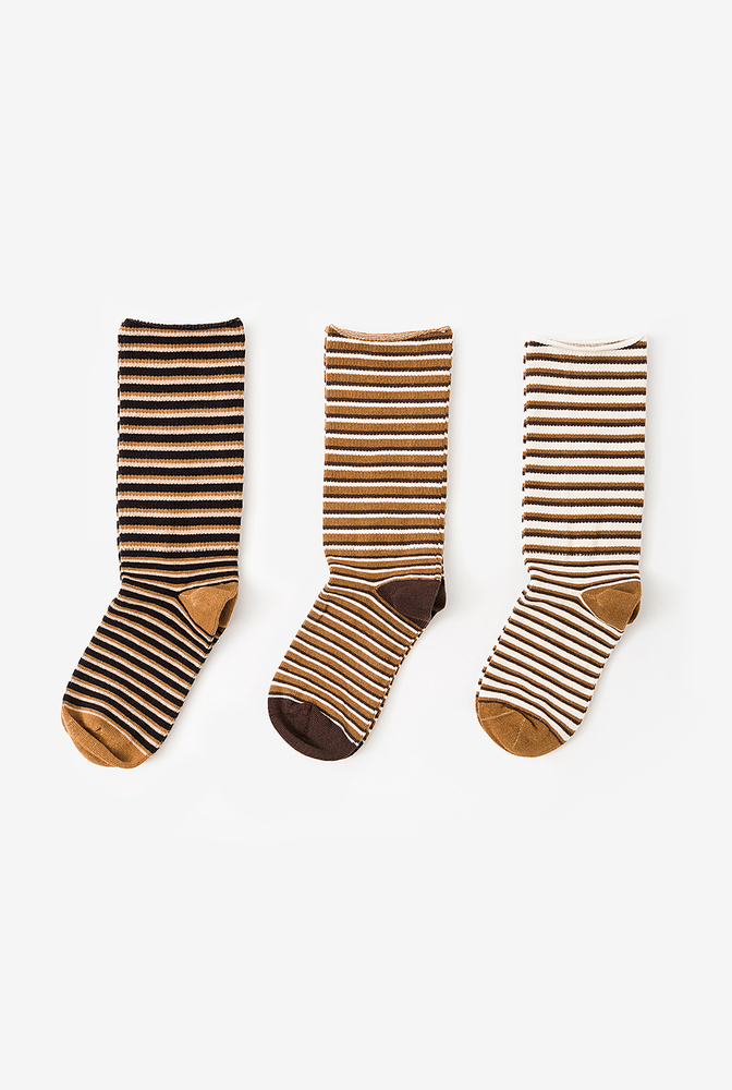 Alabama chanin organic cotton socks with stripes 4