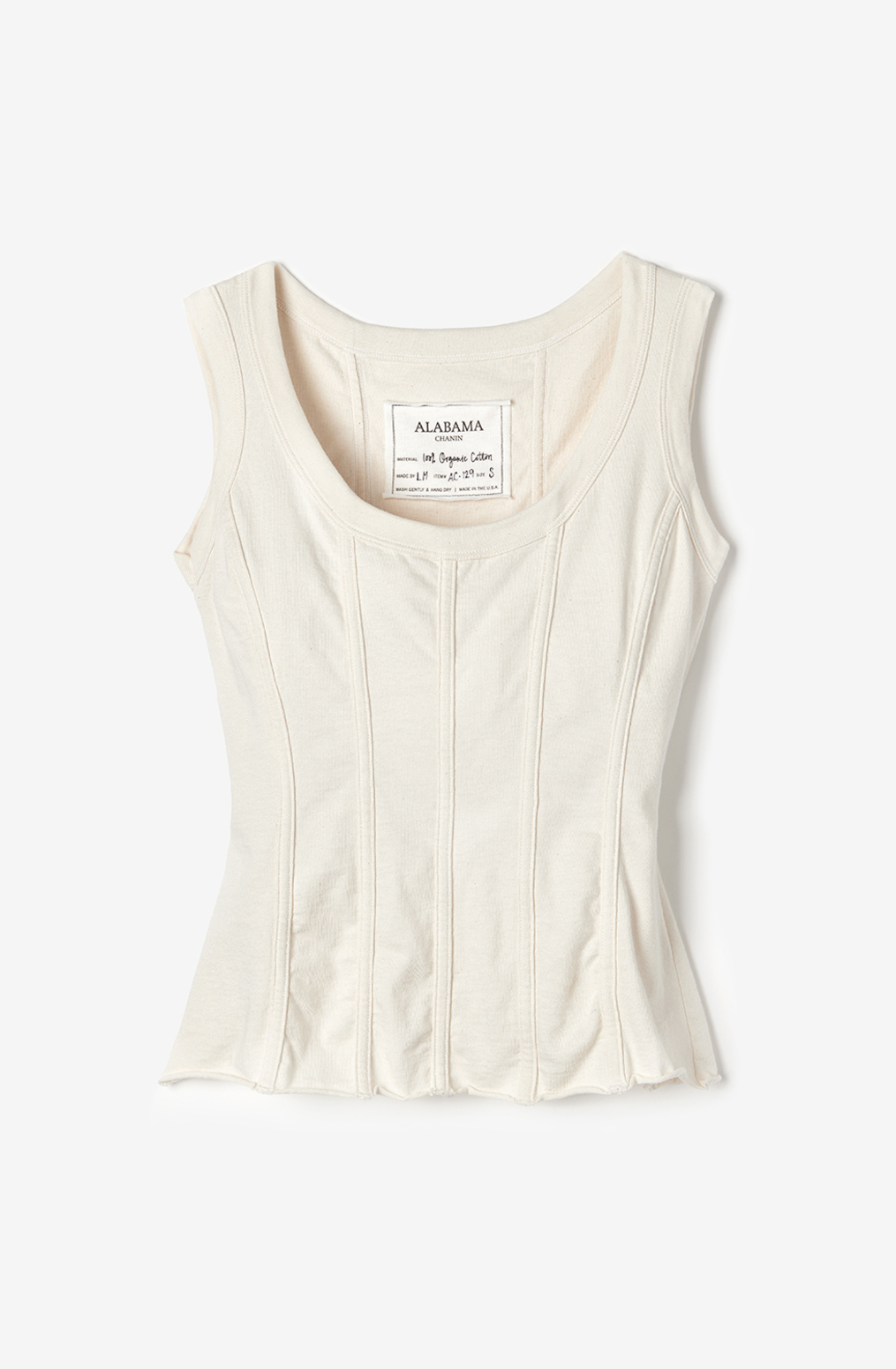 Alabama chanin womens fitted corset organic cotton top 1