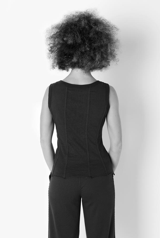 Alabama chanin womens fitted corset organic cotton top 2